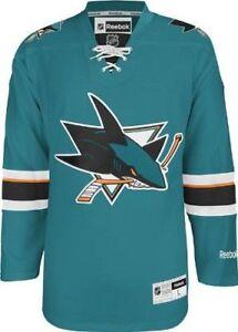 634a11558 Reebok Men s San Jose Sharks Center Ice Premier Team Replica Hockey Jersey