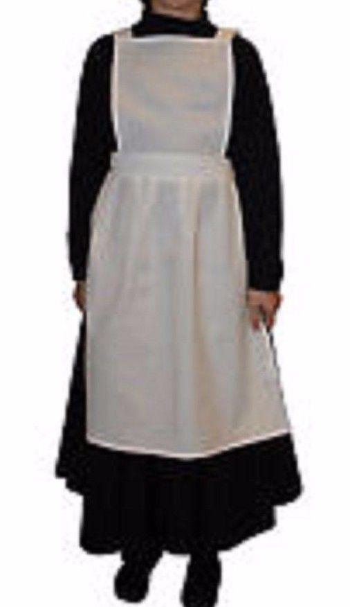 GIRLS POLY COTTON APRON PINAFORE Apron Victorian WW1 Edwardian Maid FANCY DRESS