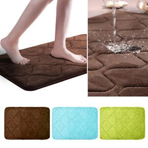 Details zu Badvorleger Memory Foam Rutschfest softy Samt Badteppich  Badezimmer Schlafzimmer