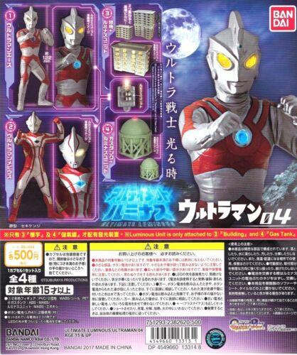 Bandai Ultraman Ultimate Luminous Light Up Gashapon Vol.04 SET OF 4 ACE MEBIUS