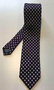 TIE-RACK-Purple-Paisley-Slim-Skinny-Tie-7cm-Width-100-Silk-Made-in-Italy