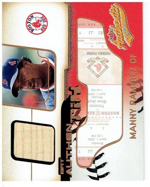 Manny Ramirez 2003 Fleer Authentix Game Bat #MR