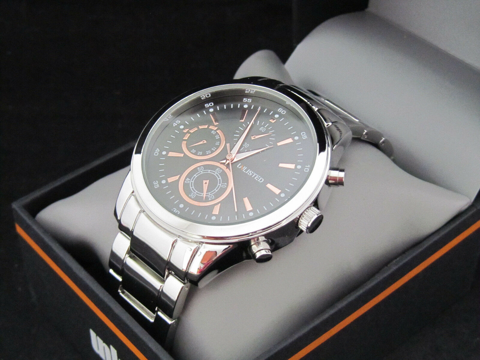 black today watch shipping movado men steel mens free dial overstock s jewelry product watches stainless