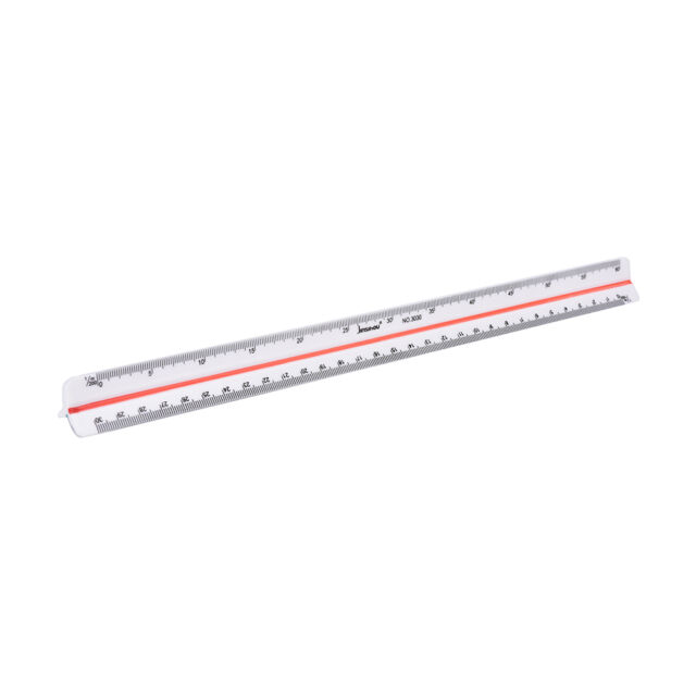 300mm 1:100~1:500 Triangular Metric Scale Ruler For Engineer 12.6''  ZFWH