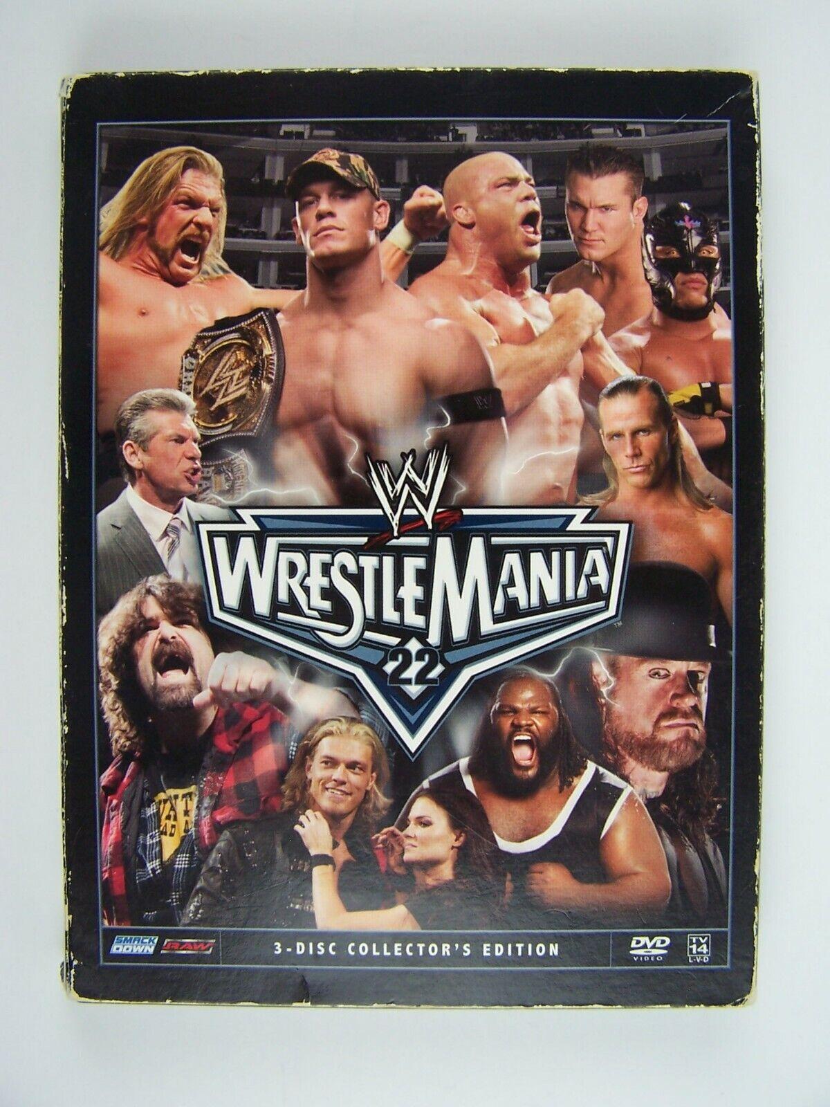 WWE: WrestleMania 22 Collector's Edition 3xDVD Box Set