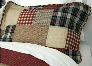 Kissenhülle Kissenbezug gequiltet Baumwolle 45 x 45 cm