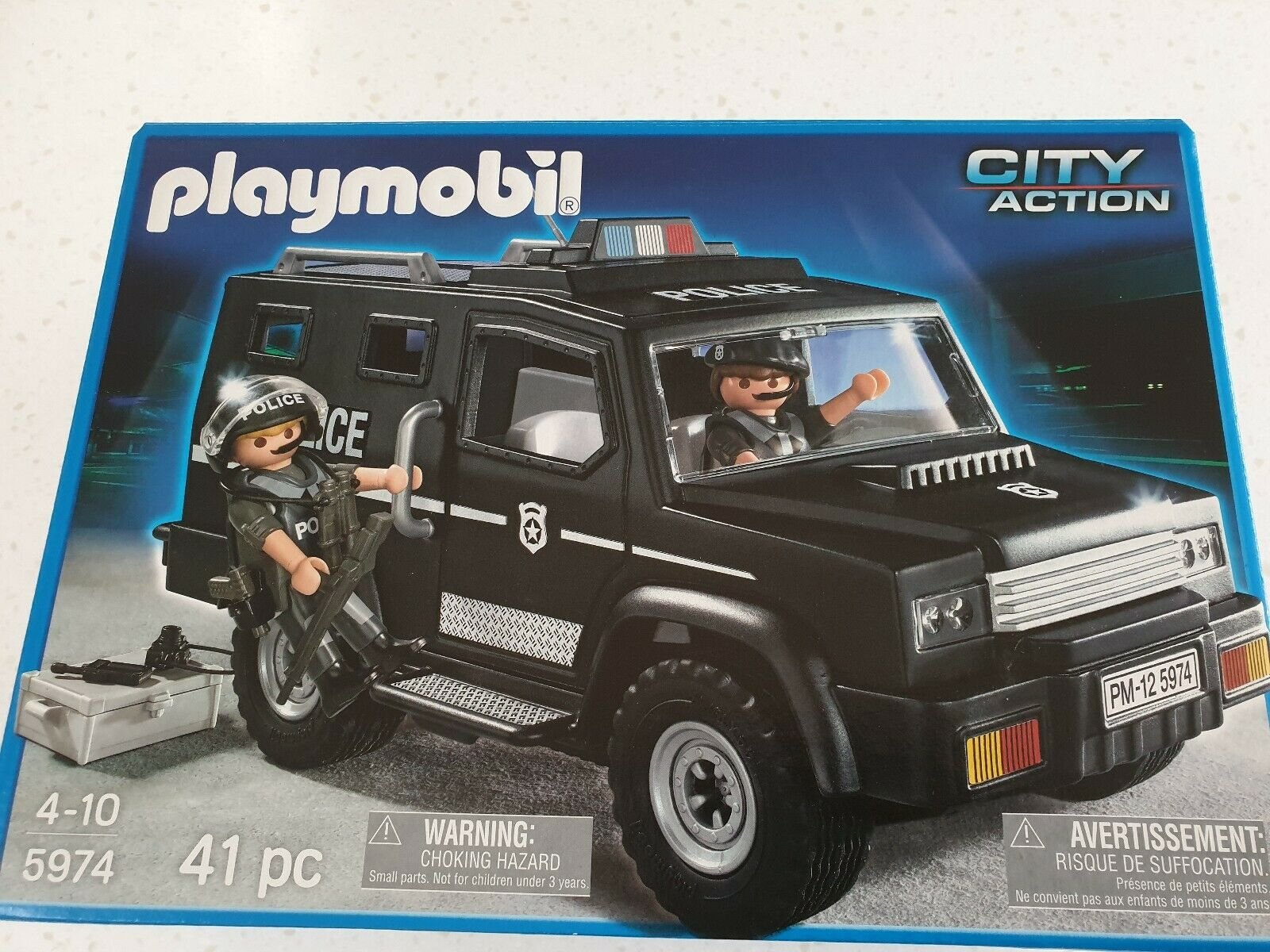 Playmobil 5974 City Action Police Car Truck accessories BNIB