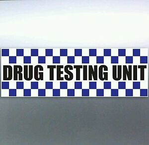 Police-Drug-Testing-Unit-Sticker-pigs-weed-funny-cops-bacon-car-Vinyl-200mm-4x4