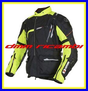 Giacca-Moto-OXFORD-MONTREAL-2-0-Adventure-Nero-Giallo-TG-L-con-protezioni
