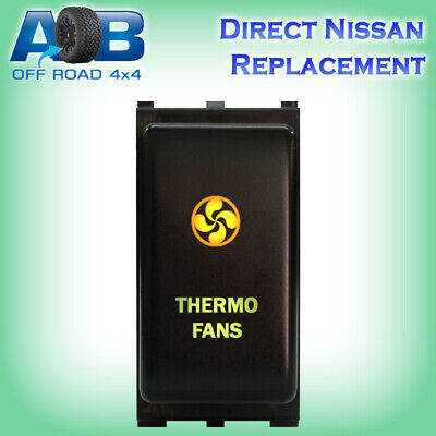 Push Switch 170GO 12V THERMO FANS on-off LED amber green fits Nissan Patrol