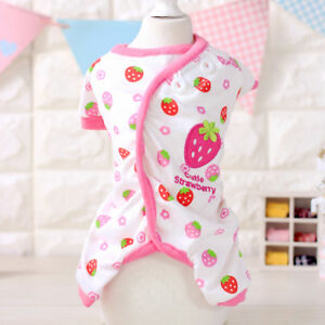 Small-Cat-Dog-Pajamas-Clothing-Chihuahua-Leisure-Wear-Pet-Puppy-Jumpsuit-Cotton