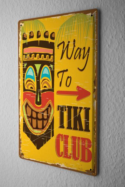 Tin Sign Adventurer Tiki Club