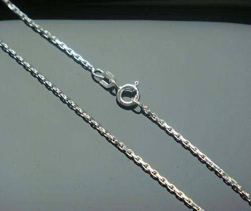 Ankerkette aus echtem 925 er Silber 1,3 mm 45 cm Kette Silberkette