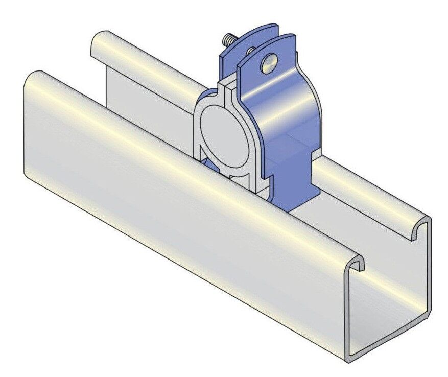 8x BBJ INSULATED CHANNEL CLAMP - 10mm, 15mm, 18mm Or 20mm