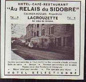 1948 -- AU RELAIS DE SIDOBRE m438 - France - 1948 -- AU RELAIS DE SIDOBRE il ne s'agit pas d'une carte postale , mais d'un beau document paru dans la rare la france, en 1948 le document GARANTI D'EPOQUE est en tres bon état et présenté sur carton d'encadrement format 105 x100 mm FRAIS D  - France