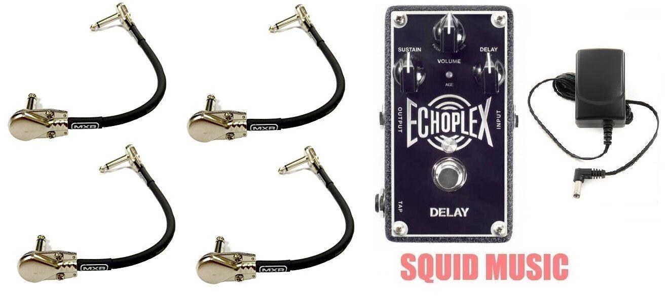 Dunlop MXR EP103 Echoplex Delay Pedal Sound Of EP-3 Tape Echo ( 4 PATCH CORDS )