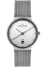 SKAGEN Ladies 355SSS1 Silver Stainless Steel MESH STRAP Watch w/Date £99rrp NEW