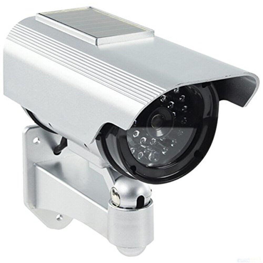 5 x Cam Attrappe  Solar Panel + LED Außen Kamera Dummy Sicherheit Fake Security