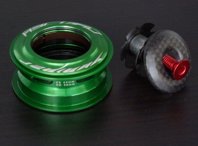 YUNIPER R3CORD 1 1/8 Steuersatz Ultralight 64g 44mm grün semi-integriert Carbon
