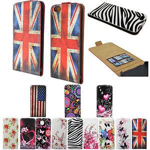 Vertical-Flip-Leather-Holster-Phone-Pocket-Cover-Case-For-Apple-Samsung-Phones