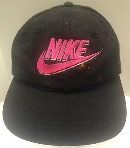 daac9e604f8bab Nike 80s 90s Snapback Hat Cap Black Neon Pink Supreme Skater Hip Hop ...