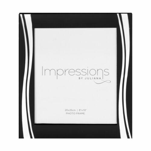 8/' X 10/' FS24980 Impressions Noir Cadre Photo avec argent vagues