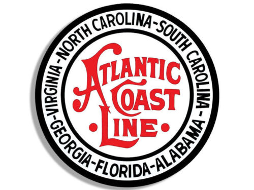"4/"" atlantic coast line railway logo bumper sticker decal usa made"