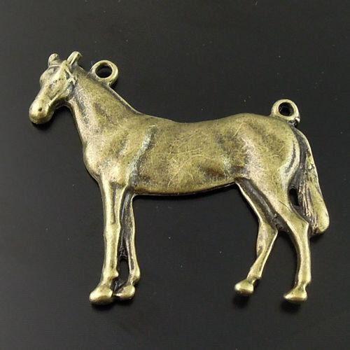 9pcs Atq Bronze Alloy Animal Horse Jewellry Pendant Charms 46*45*4mm 08369