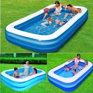 Bestway Inflatable Family Lounge Rectangular Paddling Swimming Garden Swim Pool