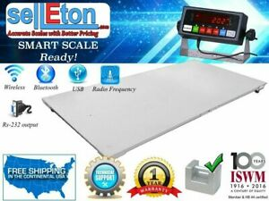 Selleton 48 X 96 Floor Scale with Printer /& Scoreboard Warehouse Industrial 2500 X .5