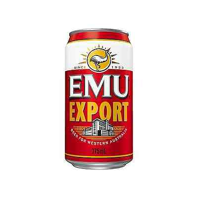 Emu Export Cans 30 Block 375mL case of 30 Australian Beer Lager
