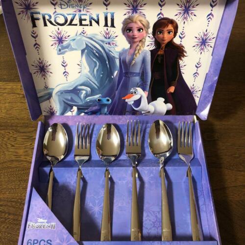 FROZEN 2 Elsa Anna Olaf Cutlery Set 6pcs Amusement prize Not for Sale Spoon Fork