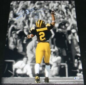 half off 7fd4c c5676 Details about CHARLES WOODSON AUTOGRAPHED SIGNED MICHIGAN WOLVERINES 16x20  PHOTO BECKETT