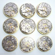 Lot 9 russian vintage mens watch movements Slava 24 mm Steampunk parts repair