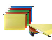 Foolscap Suspension Files Polypropylene Executive Heavy Duty Pack of 5 Assorted