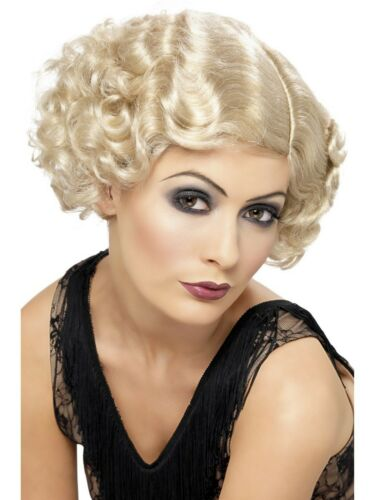 Adult 1920s Flirty Flapper Lady Wig Charleston Roaring 20s Gatsby Fancy Dress