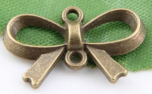 Wholesale 10//20//30 Bronze Plated Bow-knot Charms Pendants  21x14mm