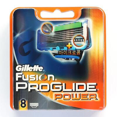 8P [Gillette] GILLETTE FUSION PROGLIDE POWER RAZOR BLADES 100% GENUINE