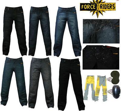 Herren motorrad Jeans Hosen Wasserdicht mit Schutzverkleidung und Protektoren
