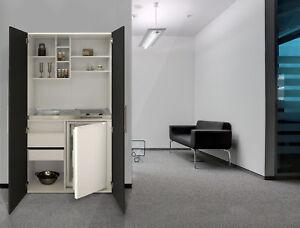 Armoires-de-Cuisine-Mini-Salle-a-Manger-Bureau-Bloc-Blanc-Noir-Respekta