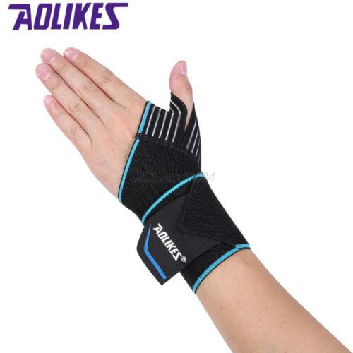 US Padded Weight Lifting Training Wrap Gym Straps Hand Bar Wrist Support Gloves