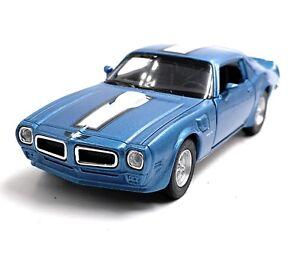 1972-Pontiac-Firebird-Trans-Am-Azul-Coche-Modelo-Coche-Escala-1-3-4-con-licencia