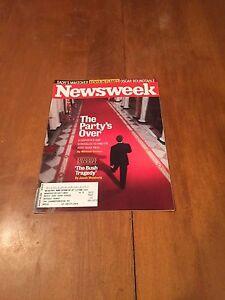 Newsweek-Magazine-The-Party-039-s-Over-January-28-2008-GOP-Post-Bush-Era