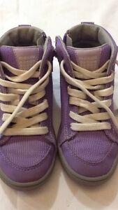 Dettagli su Geox Respira scarpe alte da bambina viola con stringhe bianche N° 29 USATE