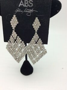 Image Is Loading 75 Abs Statement Rhinestone Earrings Cc36
