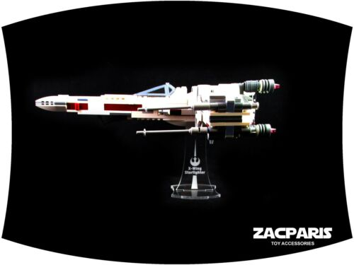 Clear acrylic! DISPLAY STAND for Lego 75218  X-Wing Starfighter
