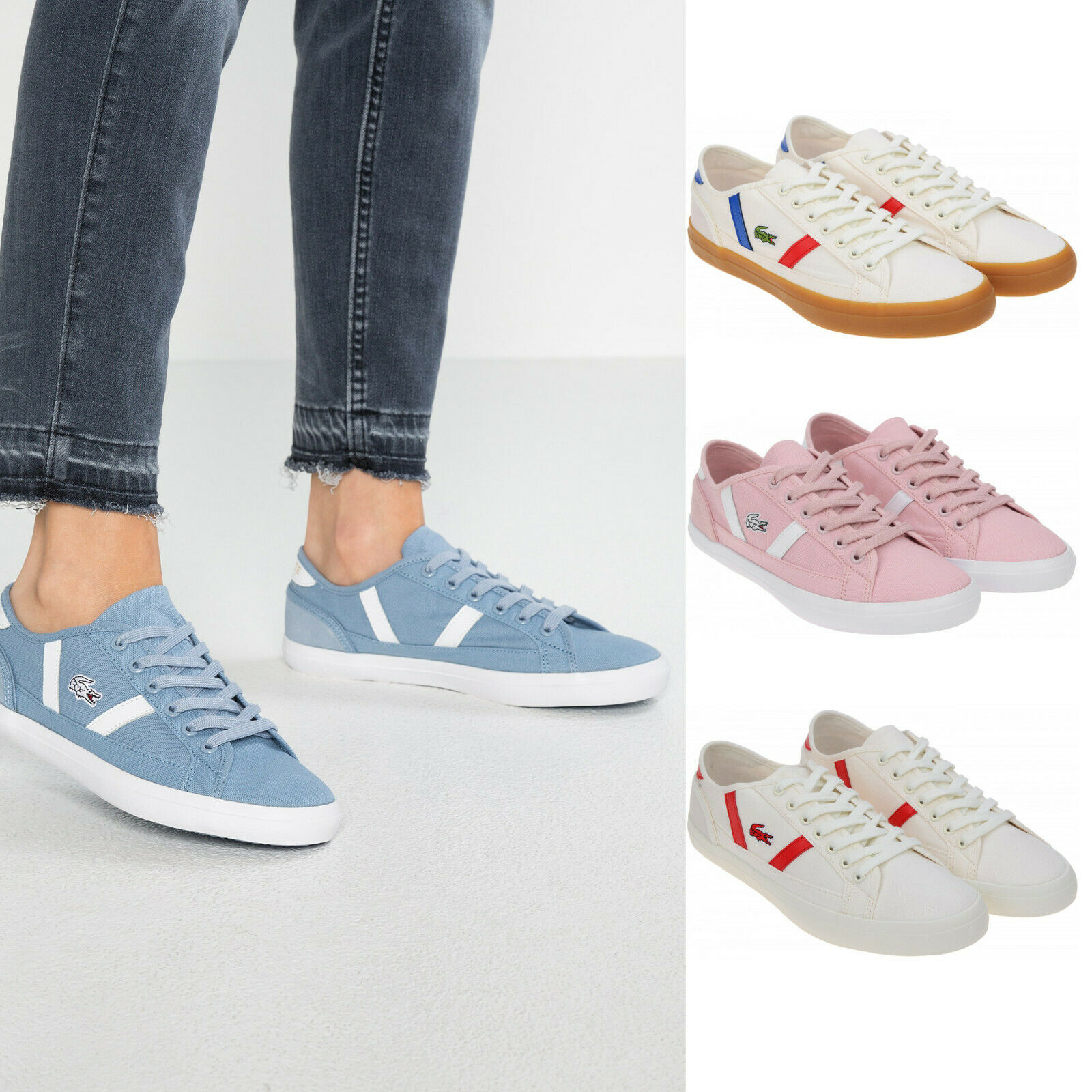 Womens Lacoste shoes Sideline Canvas Fashion Sneakers Pick color & Size NEW