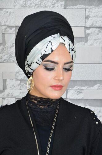 BD189 Fertig Kopftuch Hazir  Bandana Türban Esarp Sal Tesettür Hijab Khimar
