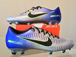 info for 7ee44 5721b Details about Nike Mercurial Victory VI NJR FG ACC Blue Silver Cleats  921509-407 Size