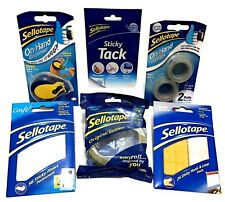 Sellotape Brand Original Golden Packing Wrapping Tape Hand Dispenser Sticky Pads